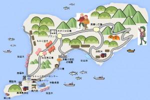 沖島絵地図
